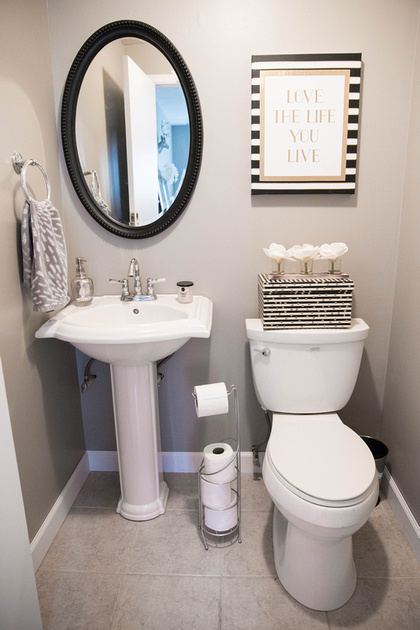 Natural Bliss Photography Home Sweet Home Half Bathroom Makeover